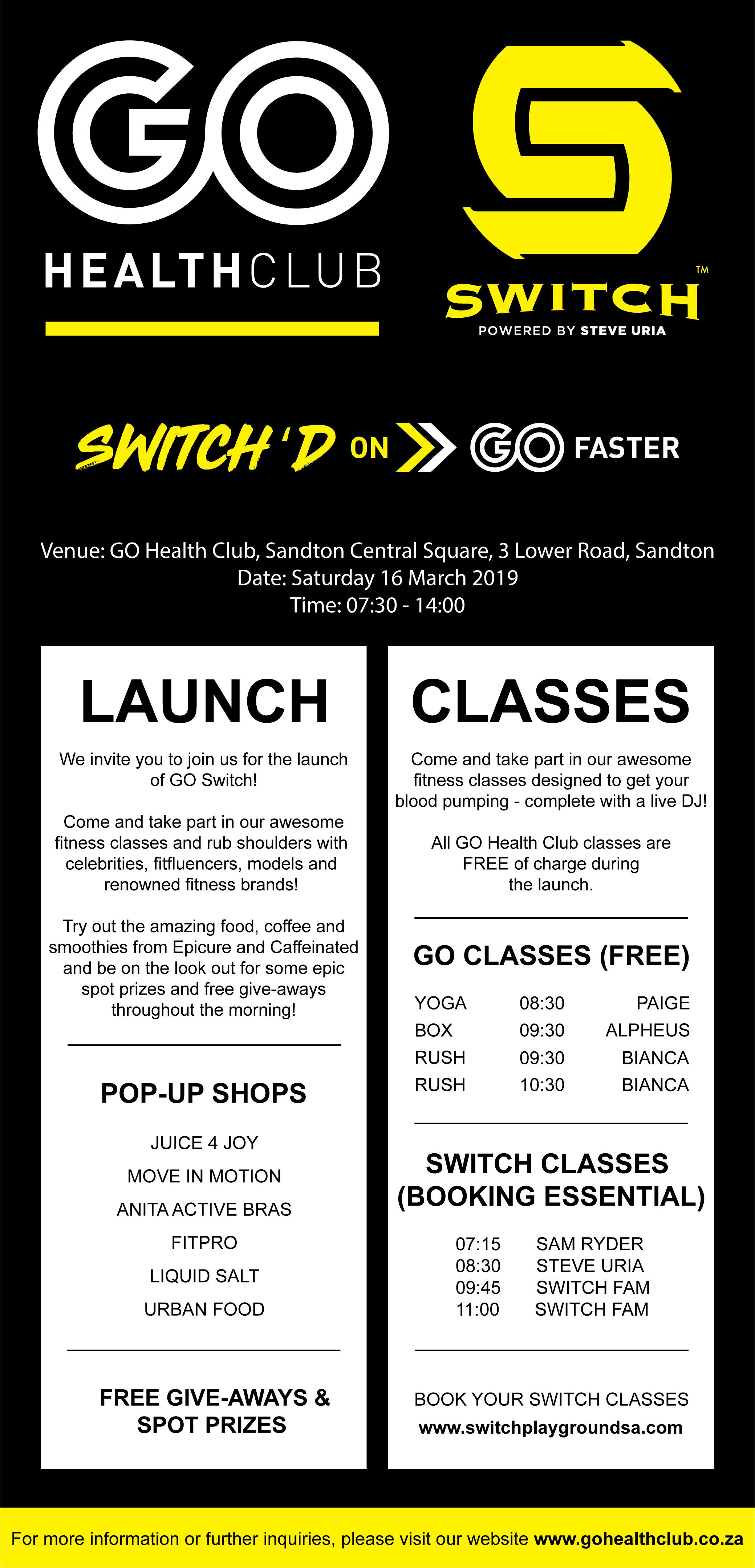 GO Switch Launch Invite